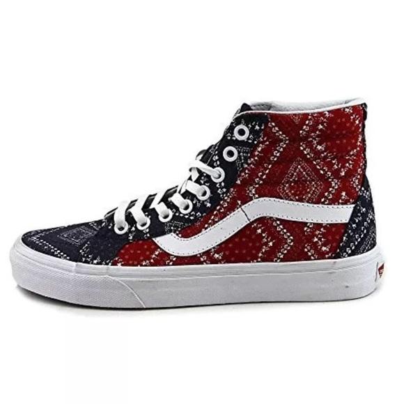 7e2eca3e4d2 Vans sk8 hi bandana chill pepp shoes sneakers 8.5